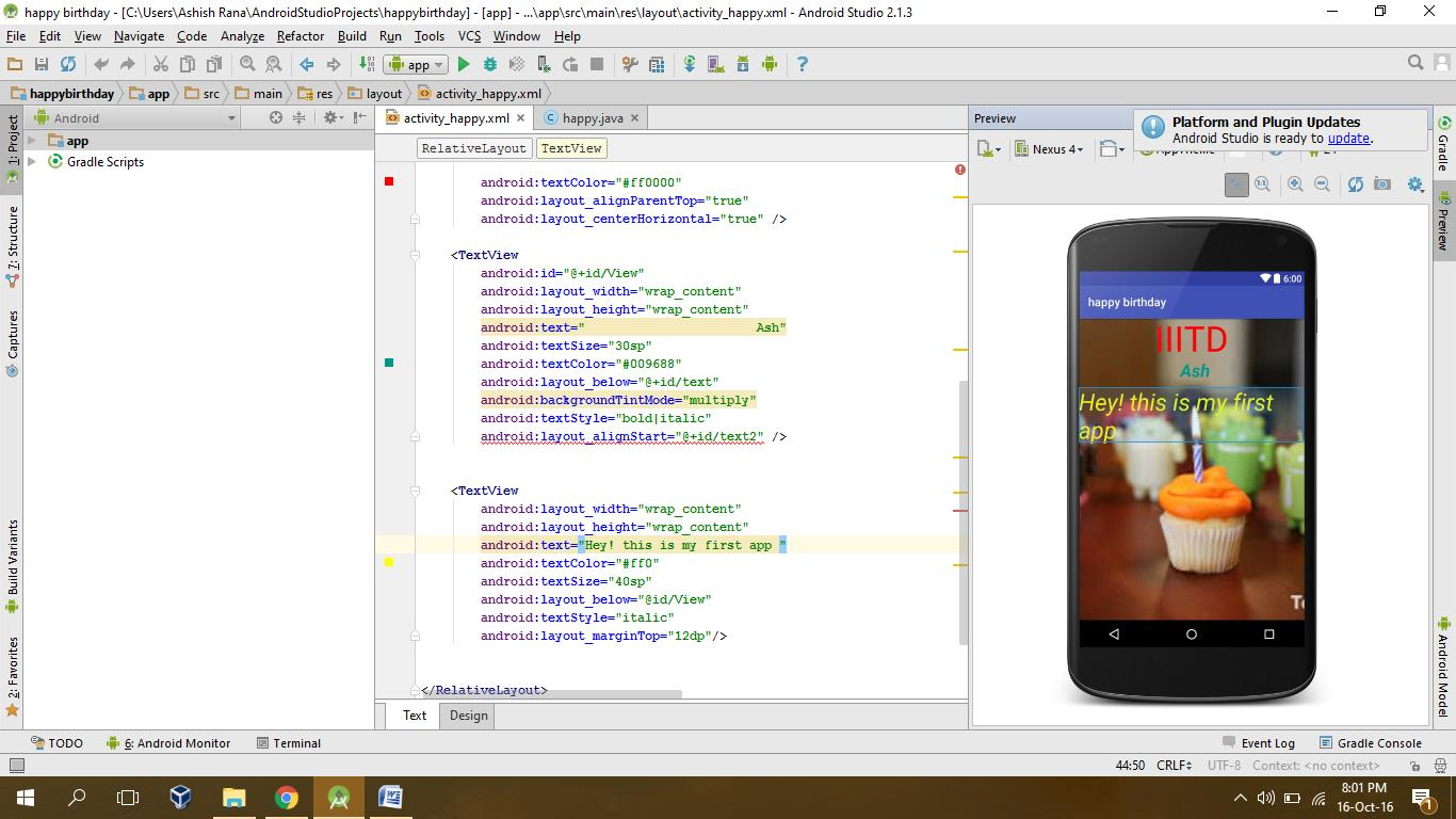 App Development - Learning and ID
